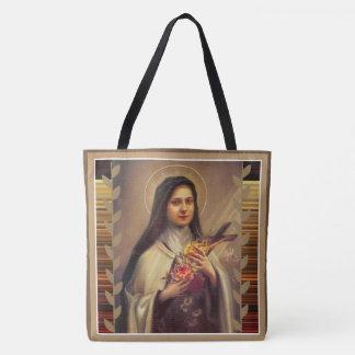 Tote Bag St Therese de l'enfant Jésus peu de fleur