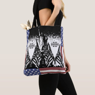 Tote Bag Statue patriotique de drapeau des Etats-Unis de