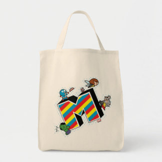Tote Bag Superhéros de Kawaii sur M rayé