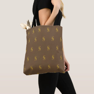 Tote Bag Symbole Brown Fourre-tout de section
