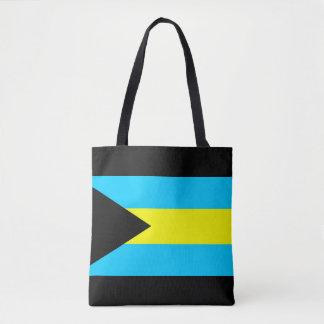 Tote Bag Symbole de drapeau de pays des Bahamas longtemps