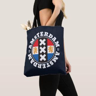 Tote Bag Symbole de ville d'Amsterdam XXX avec le drapeau