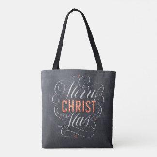 Tote Bag Tableau religieux de chapiteau de Joyeux Noël