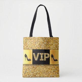 Tote Bag Talons hauts de diamants d'or de VIP