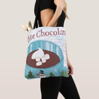 Tote Bag Tasse de Noël avec du chocolat chaud