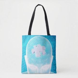 Tote Bag Technologie futuriste avec la puce d'esprit humain