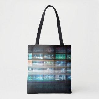 Tote Bag Technologie futuriste avec le futur abrégé sur