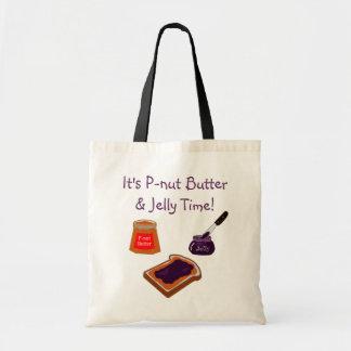 Tote Bag temps Fourre-tout de beurre et de gelée de P-écrou