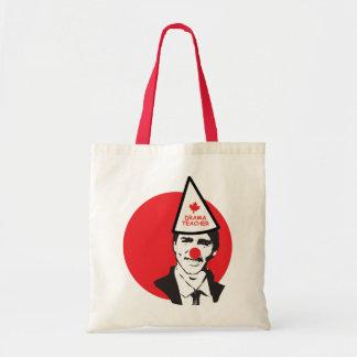 Tote Bag Tenez mon clown drôle du Canada de trudeau de