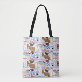 Tote Bag Termes de vétérinaire d'art de