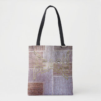 Tote Bag Texture en cuir originale de métier de tapis