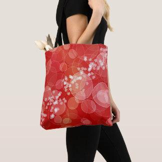 Tote Bag Texture rouge de gradient de bokeh de l'amour de