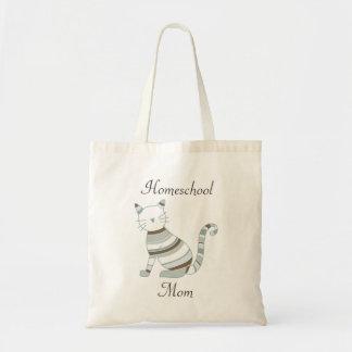 Tote Bag Thème de chat pour des mamans de Homeschooling