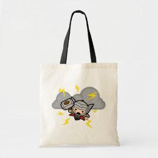 Tote Bag Thor de Kawaii avec la foudre