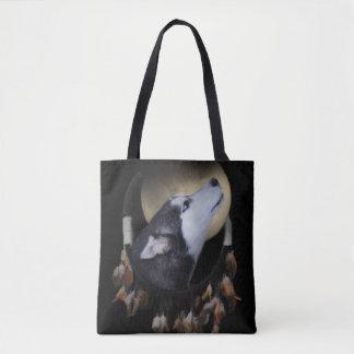 Tote Bag Totem de Natif américain le chien Dreamcatcher