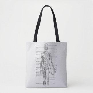 Tote Bag Toujours apprenant : Diagramme d'anatomie de corps