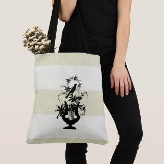 Tote Bag Traditionnel-Crème-Blanc-Domaine-Rayures-M-l