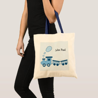 Tote Bag Train bleu de Choo Choo