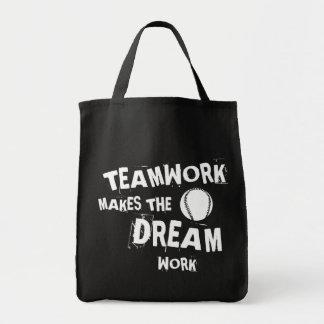Tote Bag Travail d'équipe de base-ball