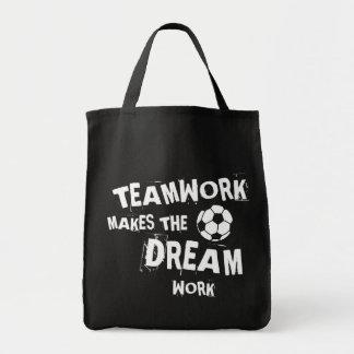 Tote Bag Travail d'équipe du football