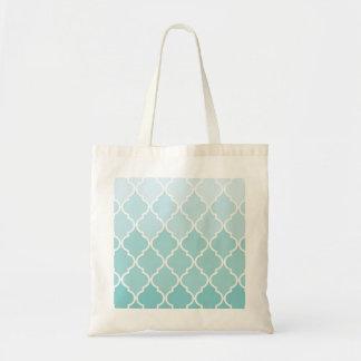 Tote Bag Treillis marocain d'Ombre, treillage - blanc bleu