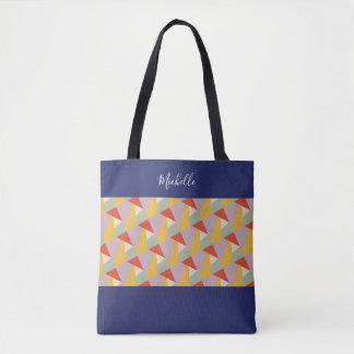 Tote Bag Triangles géométriques modernes personnalisées