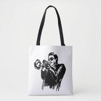 Tote Bag Trompettiste de jazz de croquis de main
