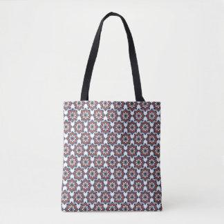 Tote Bag Tuile de mosaïque tribale de rétro mandala tiré