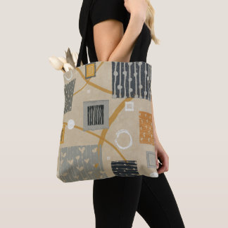 Tote Bag Tuiles graphiques abstraites