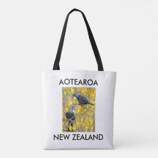 Tote Bag tuis jumeaux de la Nouvelle Zélande d'aotearoa