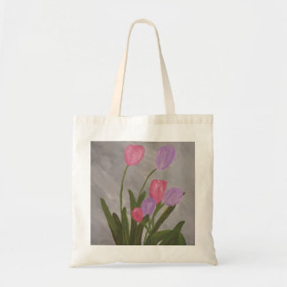 Tote Bag Tulipes roses et pourpres
