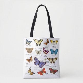 Tote Bag Types populaires d'illustrations polychromes de