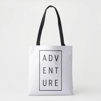Tote Bag Typographie d'aventure