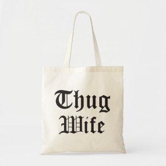 Tote Bag Typographie de culture pop d'épouse de voyou