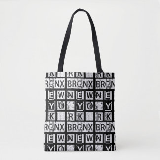 Tote Bag Typographie grunge de Bronx New York |