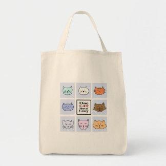 Tote Bag Un chat court de fou