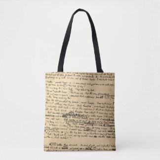 Tote Bag Un manuscrit d'original de chant de Noël