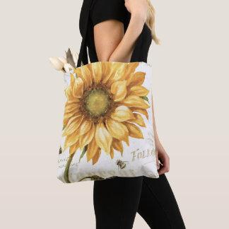 Tote Bag Un tournesol jaune