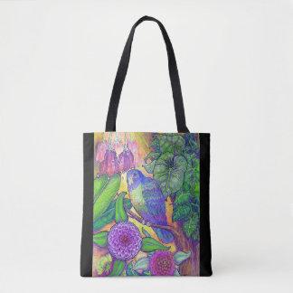 Tote Bag Une beauté tropicale dedans profonde, couleur