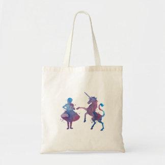 Tote Bag Une fille et une licorne