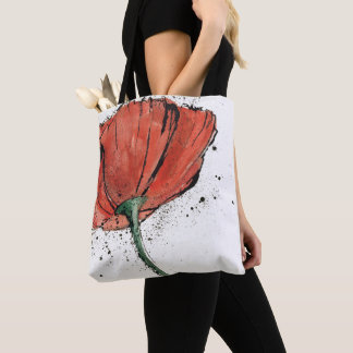 Tote Bag Une fleur fermée sur un arrière - plan blanc