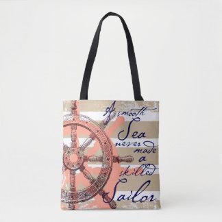 Tote Bag Une mer lisse n'a jamais fait un marin qualifié