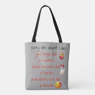 Tote Bag Une tante Quote