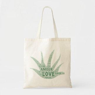 Tote Bag Usine d'Alove Vera illustrée avec le mot d'amour