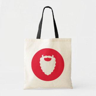 Tote Bag Vacances modernes de barbe rouge et blanche de