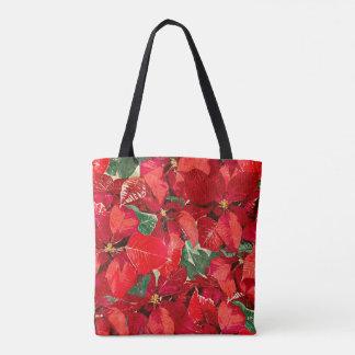 Tote Bag Vacances rouges de poinsettia