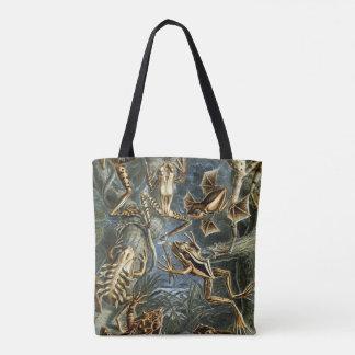 Tote Bag Variété d'Ernst Haeckel de grenouilles exotiques :