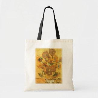 Tote Bag Vase avec 15 tournesols par Vincent van Gogh