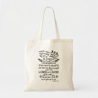 Tote Bag Vers Fourre-tout de bible de 1:9 de Joshua