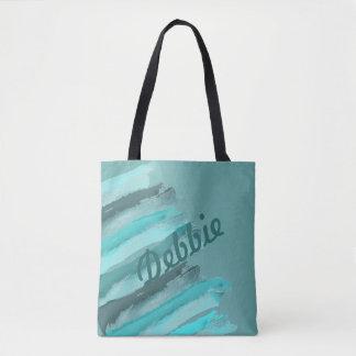 Tote Bag Vert abstrait d'océan personnalisé